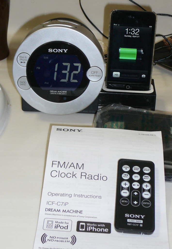 how to set time on sony dream machine clock radio